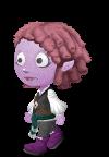purple kid in pants
