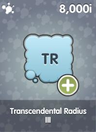 Transcendental Radius III