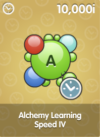 Alchemy Learning Speed IV