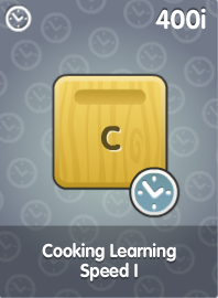 Cooking Learning Speed I