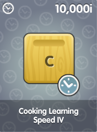 Cooking Learning Speed IV