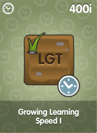 Growing Learning Speed I