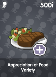 Appreciation of Food Variety